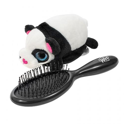 Wet Brush Plush Brush Kids Detangler Hair Brush - Black/White Panda