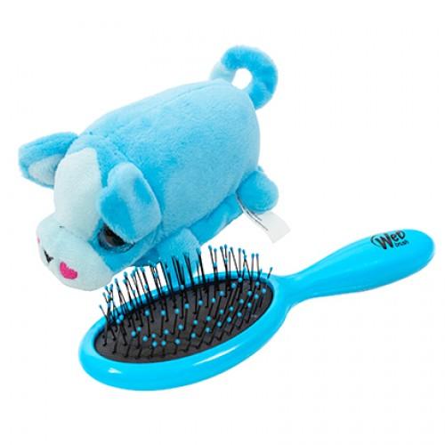 Wet Brush Plush Brush Kids Detangler Hair Brush - Blue Puppy