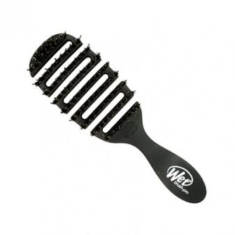 Wet Brush Pro Flex Dry Shine Enhancer Hair Brush - Black