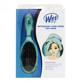 Wet Brush Teal Detangler & Towel Gift Pack