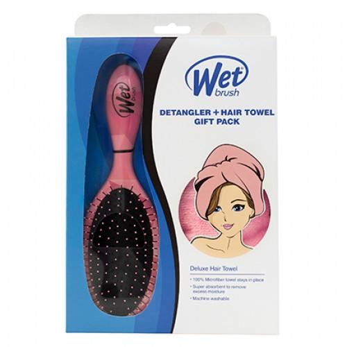 Wet Brush Coral Detangler & Towel Gift Pack
