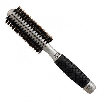 Brushworx Keratin Silk Ceramic Boar Bristle Radial Hair Brush - Small