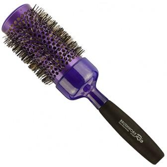 Brushworx Rio Purple Ceramic Hot Tube Hair Brush - Jumbo 52mm
