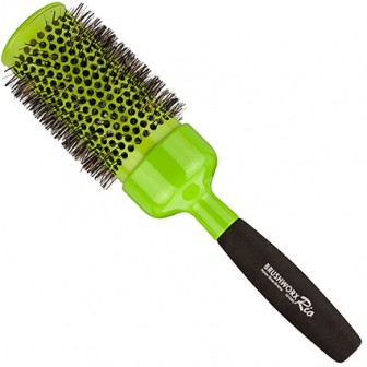 Brushworx Rio Green Jumbo Ceramic Hot Tube Hair Brush