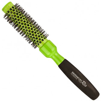 Brushworx Rio Green Medium Ceramic Hot Tube Hair Brush