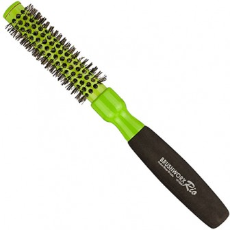 Brushworx Rio Green Small Ceramic Hot Tube Hair Brush