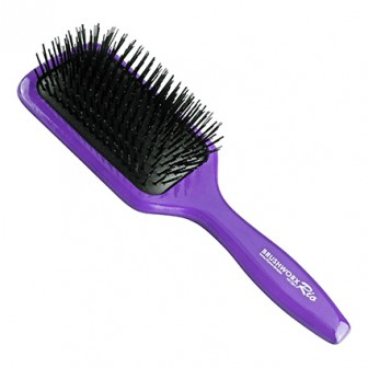 Brushworx Rio Paddle Hair Brush Purple
