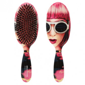 Brushworx Artists and Models Oval Cushion Hair Brush Lady Ra-Ra