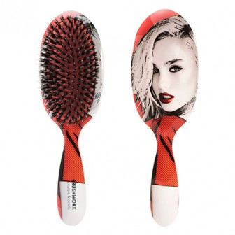 Brushworx Artists and Models Oval Cushion Hair Brush Big Red
