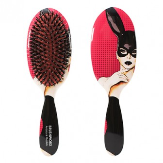 Brushworx Artists and Models Oval Cushion Hair Brush Bunny Boo
