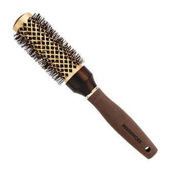 Brushworx Brazilian Bronze Hot Tube Hair Brush - Medium 50mm