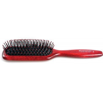 Brushworx Natural Woodgrain Cushion Hair Brush
