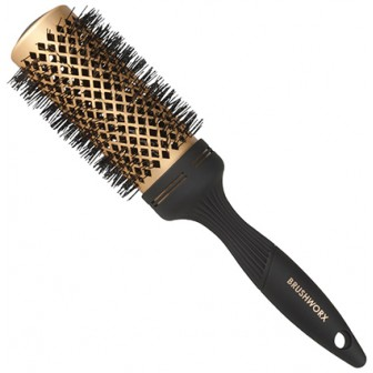 Brushworx Gold Ceramic Hot Tube Hair Brush, Large