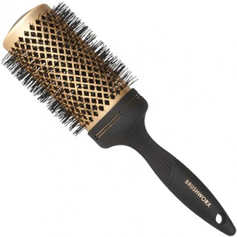Brushworx Gold Ceramic Hot Tube Hair Brush - Extra Large 70mm
