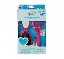 Wet Brush Best In Travel Duo Kit Detangler and Dry Hair Brush Pink