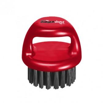 BaBylissPRO Barberology Fade Knuckle Brush Red Medium Bristle
