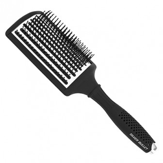 Silver Bullet Black Velvet Paddle Hair Brush