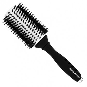 Silver Bullet Black Velvet Round Hair Brush Extra Large
