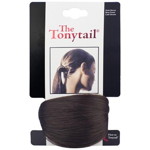 Mia Tonytail Ponytail Hair Wrap - Dark Brown