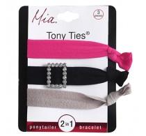 Mia Tony Ties 3pc Rhinestones