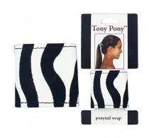 Mia Tony Pony Ponytail Hair Wrap In Zebra