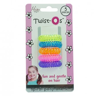 Mia Girl Twist-Os Spiral Ponytail Hair Bands