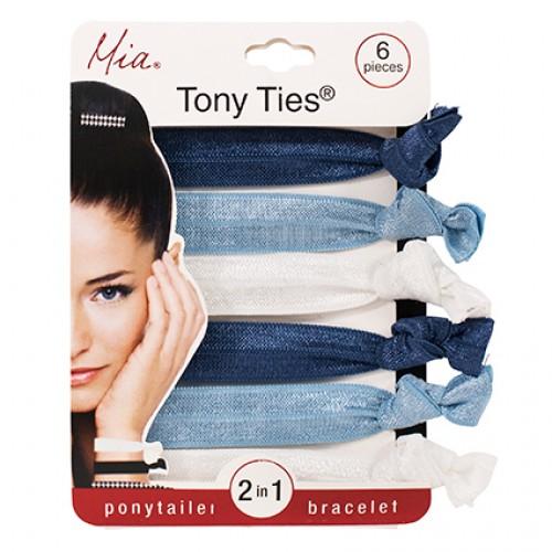 Mia Tony Ties Navy/ Light Blue/ White 6pc