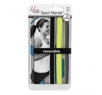 Mia Sport No Slip Bands 3pc - Black/ Grey/ Lime