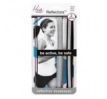 Mia Sport Reflector Headbands - Grey & Black