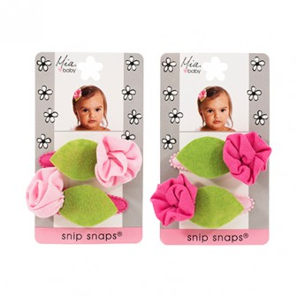 Mia Baby Jersey Flower Snip Snaps 2pc