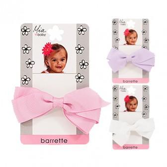 Mia Baby Ribbon Bow Barrette Assorted 1pc