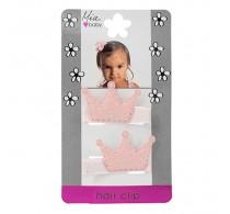 Mia Baby Crowns Glitter Pink 2pc