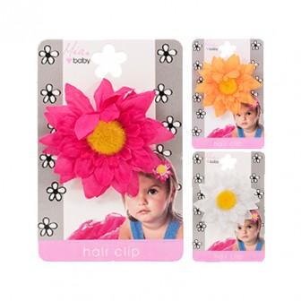 Mia Baby Daisy Flower Hair Clip Assorted 1pc