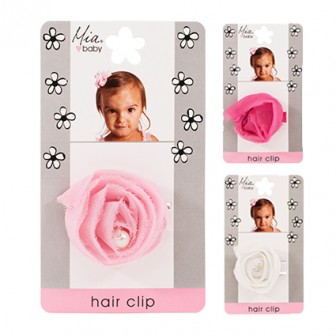 Mia Baby Chiffon Rosette Hair Clip Assorted 1pc