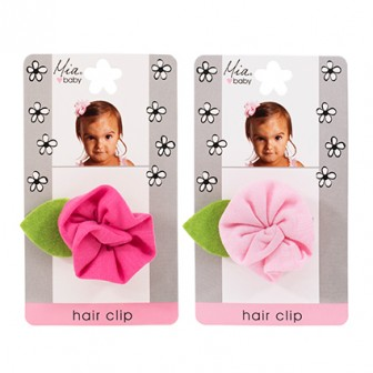 Mia Baby Flower Jersey Hair Clip 1pc
