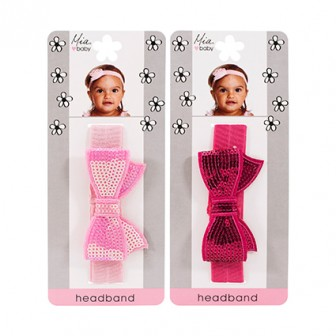 Mia Baby Sequin Bow Headband 1pc