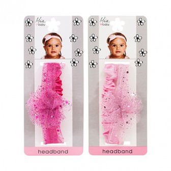 Mia Baby Flower Sparkle Tulle Headband 1pc