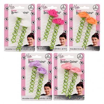 MIA Girl Flower Bobby Pin 2pc