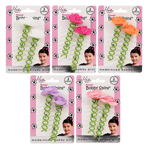MIA Girl Flower Bobby Pin 2pc