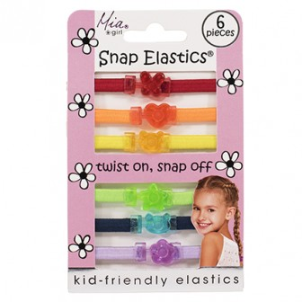 Mia Baby Snap Elastics Rainbow 6pc