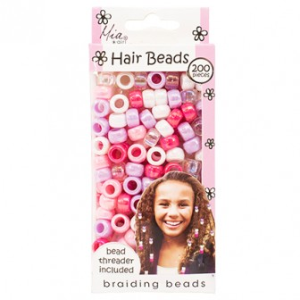 Mia Girl Hair Braiding Beads 200pc