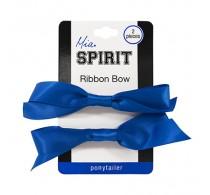 Mia Spirit Royal Blue Bow Ponytailer 2pc