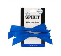 Mia Spirit Ribbon Bow Ponytailer 2pc - Navy Blue