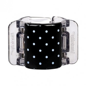 LINZICLIP BLACK & WHITE POLKA DOT