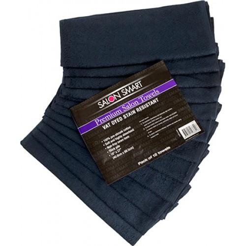 Salon Smart Premium Black Towels 12pc