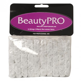 BeautyPRO Disposable White G-String 100pk