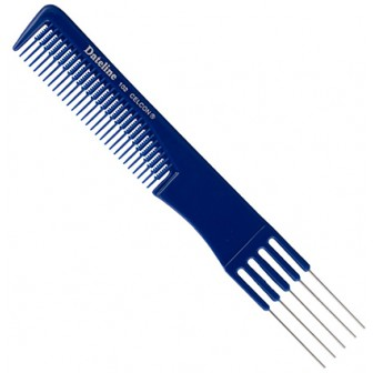 Dateline Professional Blue Celcon MKII/102 Metal Teasing Comb - 19cm