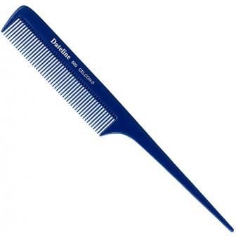 Dateline Professional Blue Celcon 500 Regular Plastic Tail Comb - 20cm
