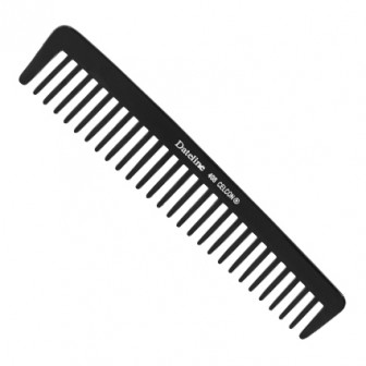Dateline Professional Black Celcon Wide Tooth Comb 8