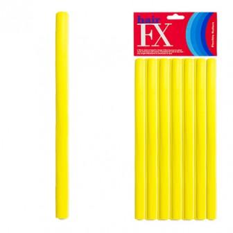 Hair FX Flexible Rod Medium Yellow 12pc